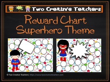 Reward Chart Sticker Chart Superhero Theme