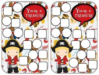 Reward Chart Sticker Chart Pirate Theme 2