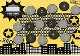 Reward Chart- Superheroes (black and gold)