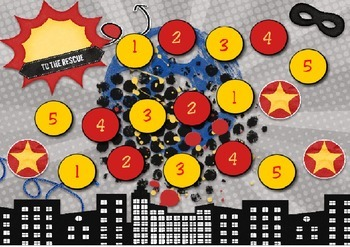 Reward Chart- Superheroes (red and yellow)