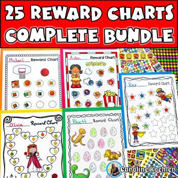 Reward Charts BUNDLE: Incentive Sheets to Motivate & Improve Behavior