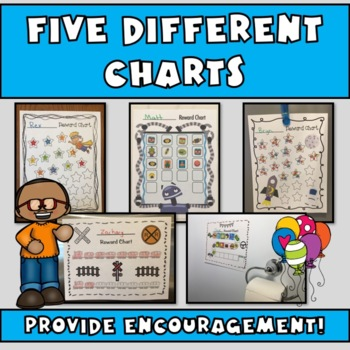 Reward Charts FOR BOYS: Incentive Sheets to Motivate & Improve Behavior