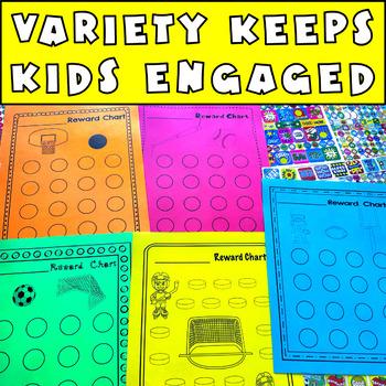 Reward Charts FOR SPORTS: Incentive Sheets to Motivate & Improve Behavior