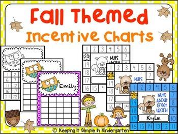 Reward Charts - Fall Themed