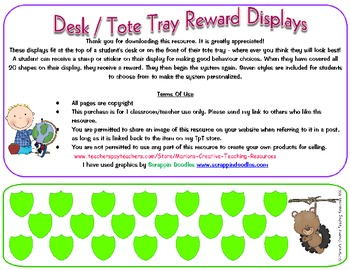 Reward Charts for Desk or Trays