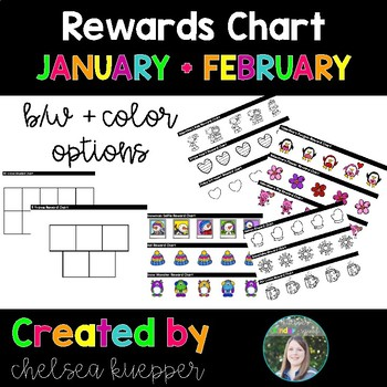 Reward Charts for January and February - VIPKid Rewards, Class Rewards