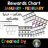 Reward Charts for January and February - VIPKid Rewards, C