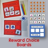 "Reward Choice Boards and ""working for"" cards."