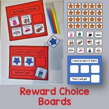 """Reward Choice Boards and """"working for"""" cards."""