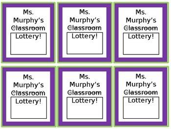 Reward: Class Lottery Ticket