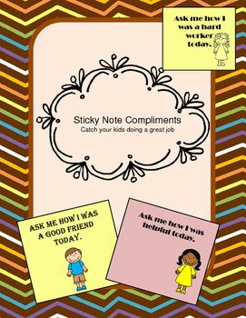 Reward Compliment Sticky Notes