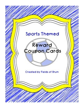 Reward Coupon Cards (Sports Themed)
