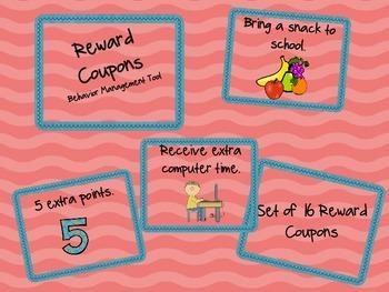 Reward Coupon - Classroom Management Tool