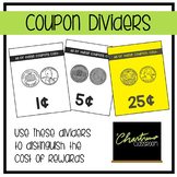 Reward Coupon Cost Dividers