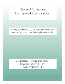 Reward Coupon - Homework