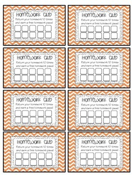Reward Coupons and Punch Cards