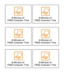 Reward Coupons: 10 Minutes of Free Computer Time