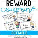 EDITABLE Classroom Reward Coupons