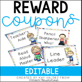 EDITABLE Classroom Reward Coupons