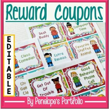 Reward Coupons - Classroom Management