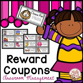 "Reward Coupons for Positive Behavior ""Classroom Management Tool"""