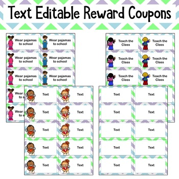 Reward Coupons: 30 Ready to Print and 4 Editable Coupons