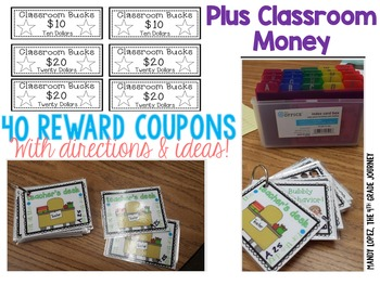 Reward Coupons: 40 Coupons + Classroom Money for ANY Class!