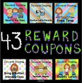 Reward Coupons - 43 Printable Colorful Behavior Incentive Coupons
