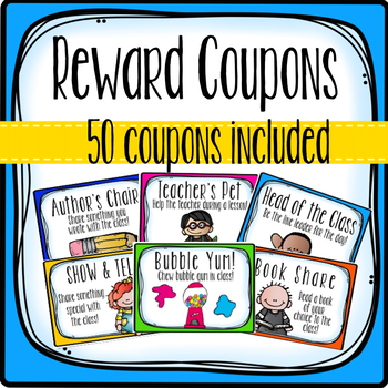 Reward Coupons- 50 different coupons!