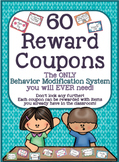 Reward Coupons *60 Coupons* PERFECT for Classroom Management!