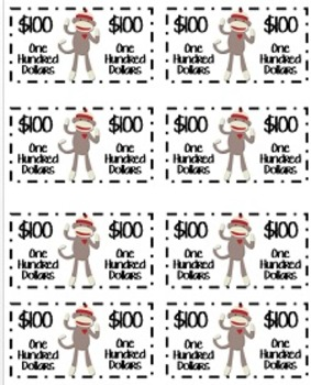 """Reward Coupons AND """"Monkey Money"""" for Positive Behavior Choices"""