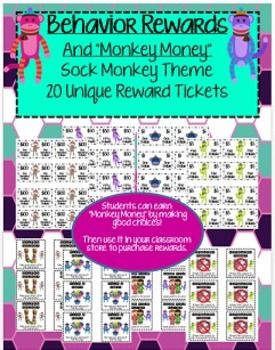 "Reward Coupons AND ""Monkey Money"" for Positive Behavior Choices"