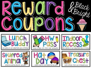 Reward Coupons - Black & Bright