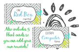 Reward Coupons / Cards for Good Behavior Management