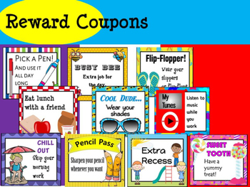 Editable Reward Coupons - Classroom Management