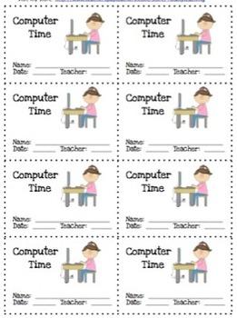 Reward Coupons: Computer Time