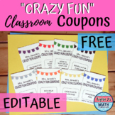 "Reward Coupons - ""Crazy Fun"" - FREE!"