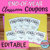 Reward Coupons - END OF YEAR Coupons