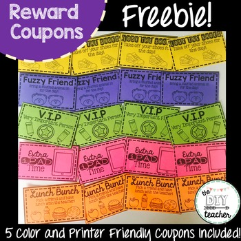 Reward Coupons - FREEBIE