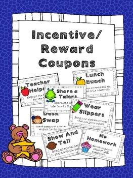Reward Coupons: Incentive Coupons: Behavior Management