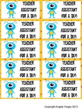 Reward Coupons for Classroom Management {Monster}