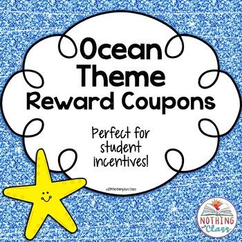Reward Coupons-Ocean Theme