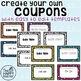 Reward Coupons {Printable Cards!}