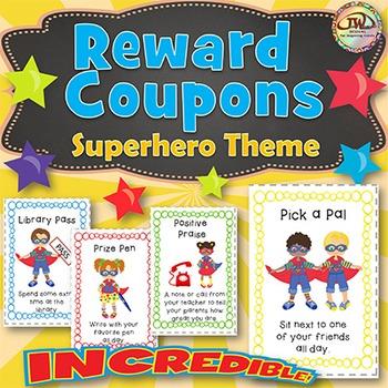 Reward Coupons SUPERHERO Themed