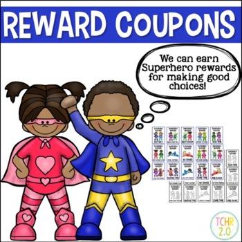Superhero Reward Coupons Editable