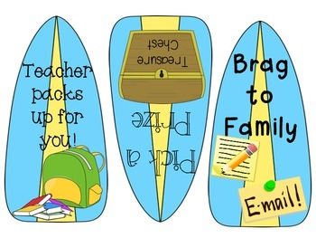 Reward Coupons- Surfboard/Beach Themed!