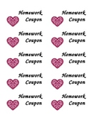 Valentine's Day No Homework Coupons