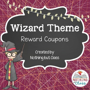 Reward Coupons: Wizard Theme