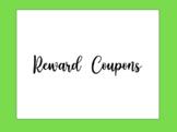 Reward Coupons for Behavior