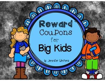 Reward Coupons for Big Kids
